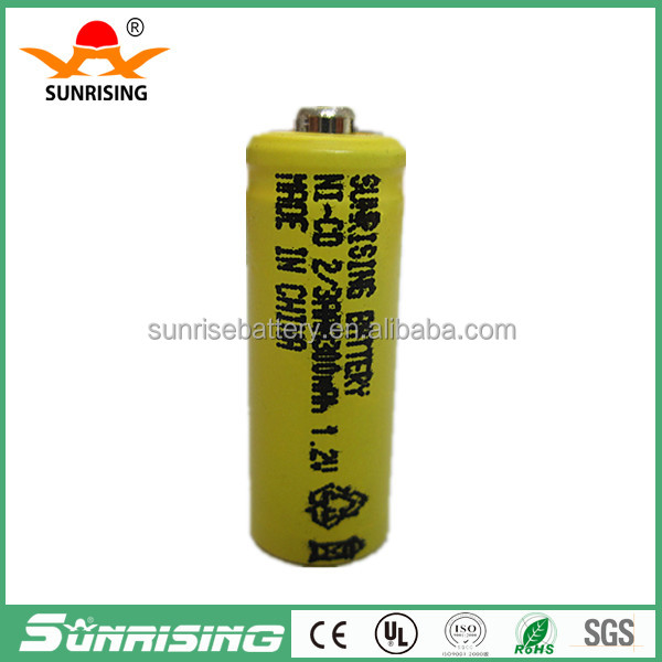 China factory price NI-CD 2/3 AAA 300mAh 1.2v battery/nicd rechargeable battery/solar battery