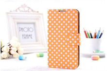 round point PU Leather Case for Samsung Note2 II n7100