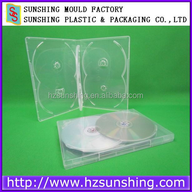 Plastic dvd case DVD packaging case 14mm DVD packaging case