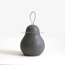 Pear shape luxurious home decor piece concrete antique home decoration items