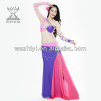 Qiancai Wuchieal professional Bellydance Costume outfits,belly dance clothing, stage belly dance perfonmance wear (QC2092)