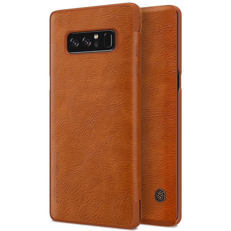 Nillkin Qin leather case for Samsung Galaxy Note 8 leather flip case with card slot