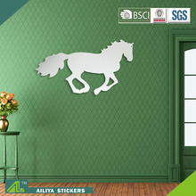 Horse eco friendly custom design self adhesive mirror foil wall sticker for bathrooms