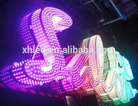 complete finished outdoor large LED lighted sign letters of RGB full color running