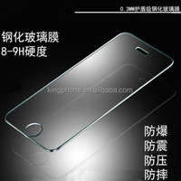 0.3mm 2.5D H9 tempered glass Screen protector For iphone 5, for iphone5 screen guard, for iphone5 protective film