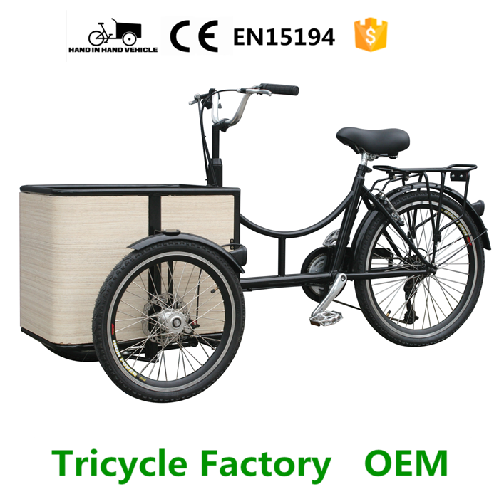 mini 3 wheels motorcycle cargo tricycle bike bakfiets for sale