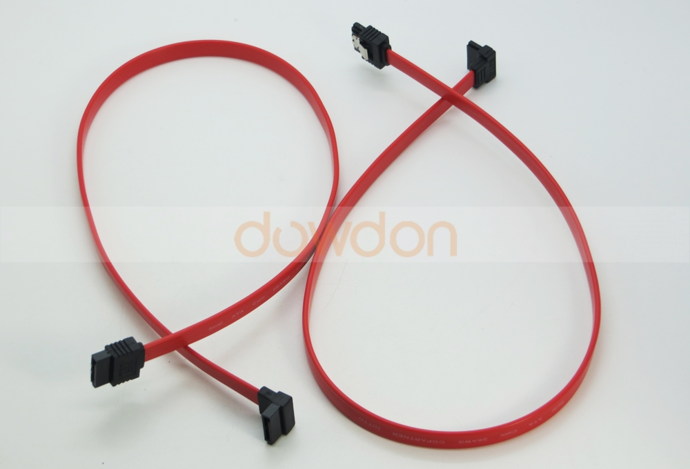 50CM 7 Pin SATA Right Angle to Straight DATA HDD Hard Drive Cable