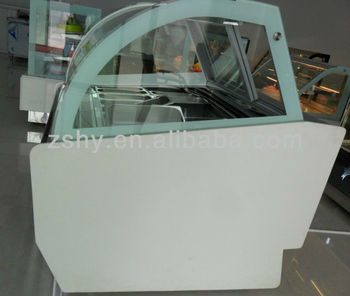 12 pans compressor ice cream freezer showcase cabinet