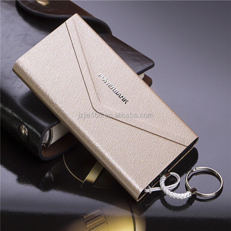 All price 8mm Ultra Slim Colourful free sample Power Bank 4000mah With Hand Rope alloy universal