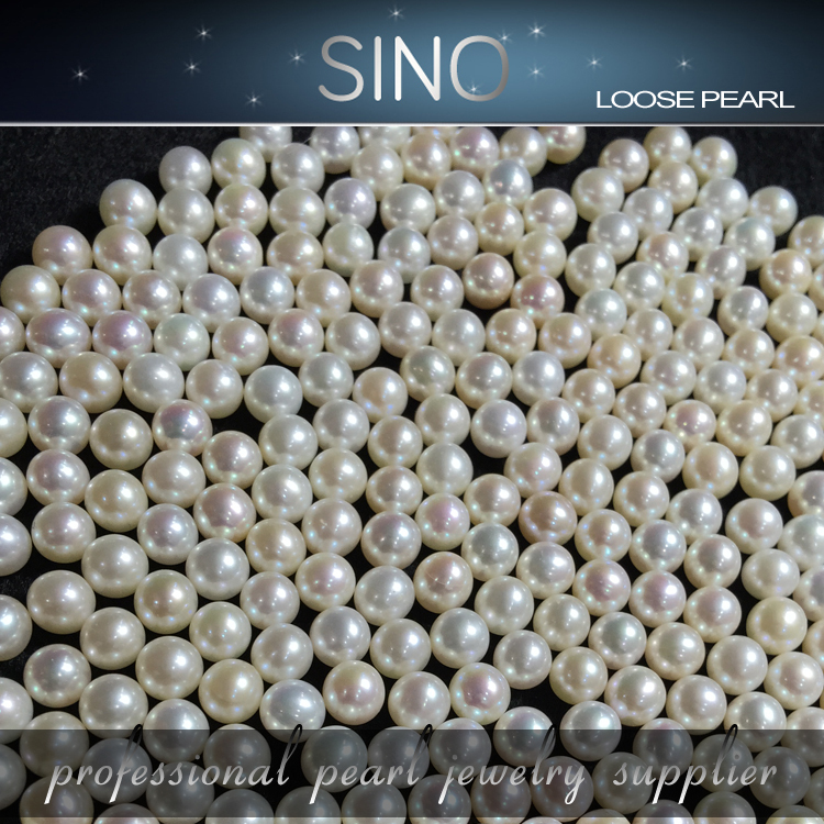 Rice Shape Cultured Loose Pearl Strand natural Freshwater Loose Pearl loose pearl with four diamond