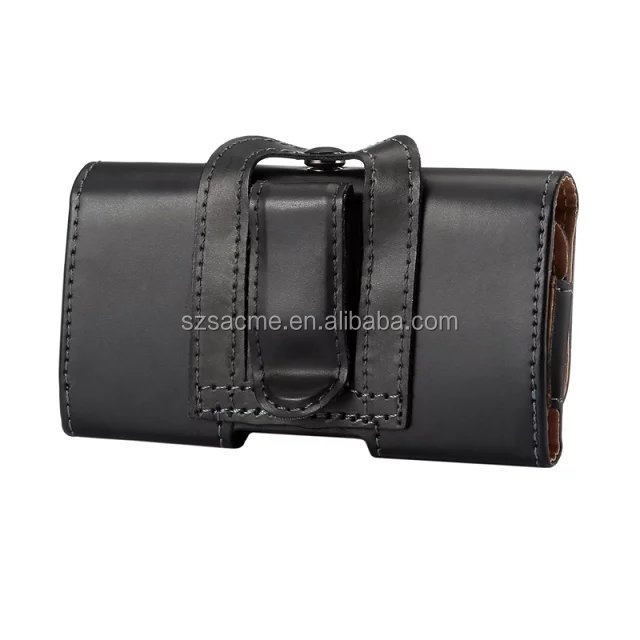 Smooth Leather Belt Clip Holster Case Leather PU Holster Pouch For Iphone