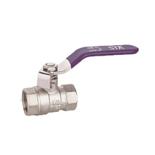 ART.1005 good quality long stem brass nickle plated ball valves
