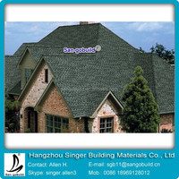 2015 Good Quality Kenya laminated Asphalt Bitumen tile shingle Roofing