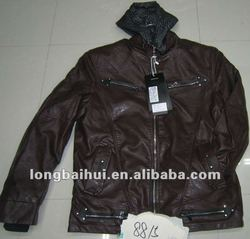 men's leather jacket stock for hot sale
