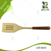 High technology wooden slotted spatula/wooden spatula/wooden kitchen turner