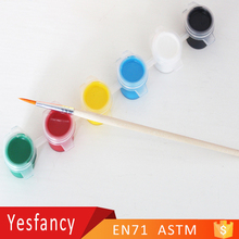 wholesale 6 strip 10ml paint pots with brushes colour paint