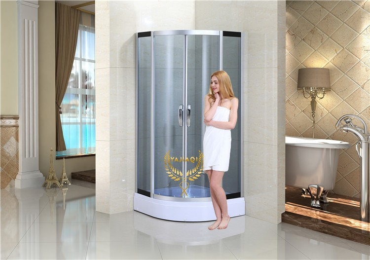 Grey color tempered glass shower cabin
