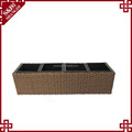 New design Handwoven flower box rattan for garden Weather Resistant big pots for flower