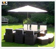 BlackBrown Mix Weave with Cover & Parasol Havannah Cube Armchairs Furniture Outdoor