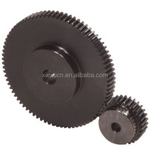 High precision metric large spur gear and small spur gear set