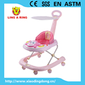 Hot sale Baby walker new model with music and light Height adjustable baby walker with canopy and push bar