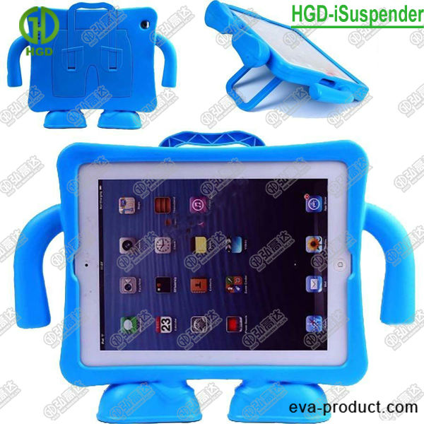 Suspender fun case free-standing EVA protector cover for ipad 2 3 4, for new ipad case