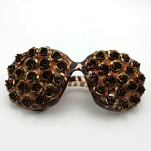 Goggle BKF1511010-2 gold folding sequins roses Classic black box, Leopard grain design and color sunglasses