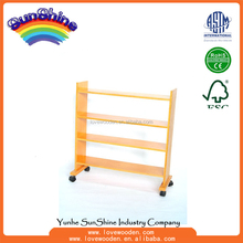 Montessori materials Wood Educational Toys Shelving Unit for Metal Inset Material , language