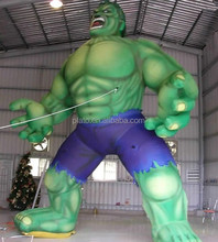 2017 High Quality Giant Inflatable Giant Hulk Cartoon Model/Figure For Sale