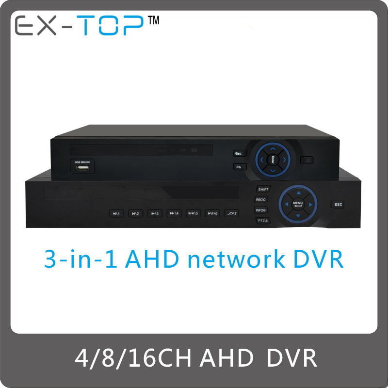 16CH H.264 DVR / HVR / NVR features 3-in-1 AHD network DVR D-8616A 16 channel
