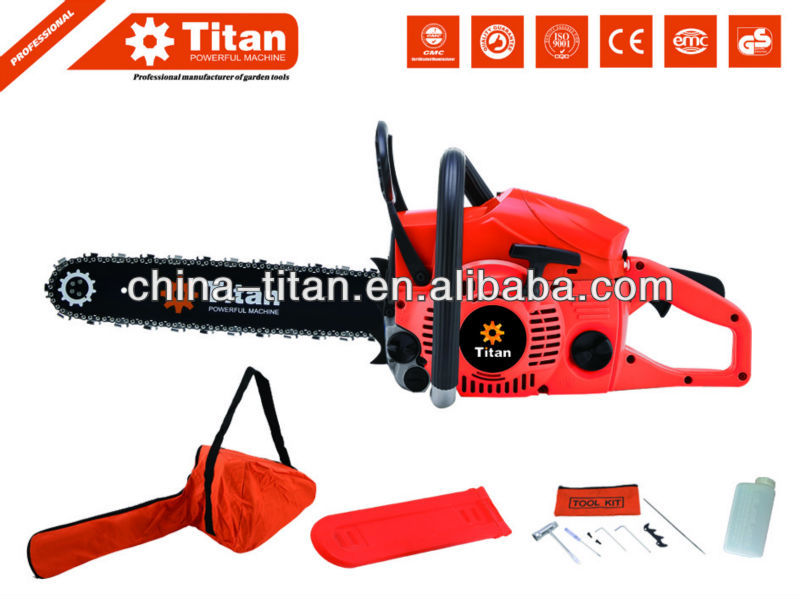"Titan 62cc gasoline big chain saws 3.5hp 20"" Bar with CE certification"
