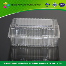 Biodegradable food clear plastic sandwich packaging boxes