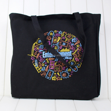Promotional full color printed organic reusable cotton canvas shopping bag