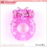 JNC-01005 With vibration function! Super love latex cock ring