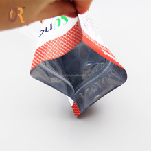 Foil laminated resealable stand up monk fruit pouch plastic packaging 250g 500g snack food bag packaging