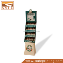 pop corrugated paper cardboard floor display for canned coffee