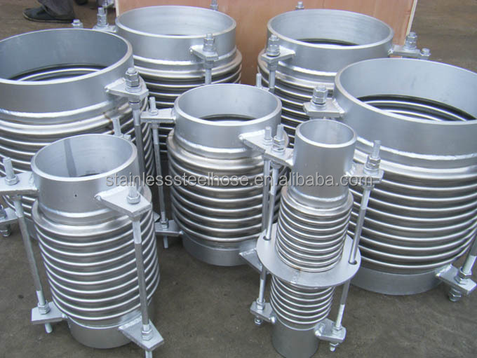 Axial high pressure expansion joints with flange