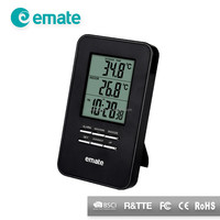 Digital wall clock thermometer