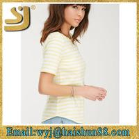 slim fit custom striped stripe cotton simple casual smart t shirt