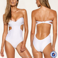 Wholesale hot sell beachwear fashion sexy open high cut one piece swimsuit