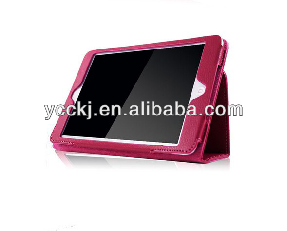 china alibaba wholesale price Luxury Litchi leather case for ipad mini with Stand Function paypal accepted gift
