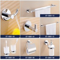 Wall Mounted Stainless steel 6 pcs Bathroom Accessories Set