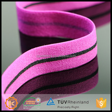 Spandex personalized design 6cm wide fabric plain twill strap for promotion