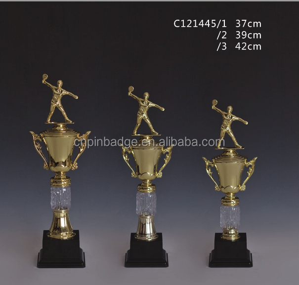 [ Walmart authorized Factory ]Personnal gold Ping- pang Plastic Trophy /Table tennis sports awards