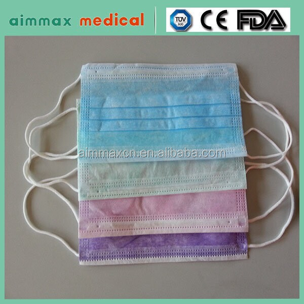colorful disposable face mask anti dust and pollen