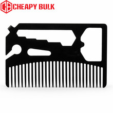 Multifunctional Utility Black Beard Comb Fits in Your Wallet