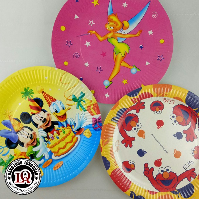 Disposable Fairy Tale Printing Paper Plate