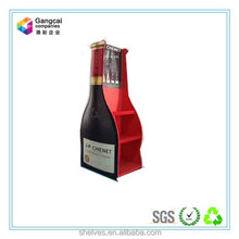 bottle shape paper cardboard display shelf stand for wine or kitchen seasoning