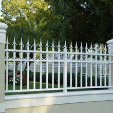 white iron fence Hot sale modern wrought iron fence metal fencing for farm