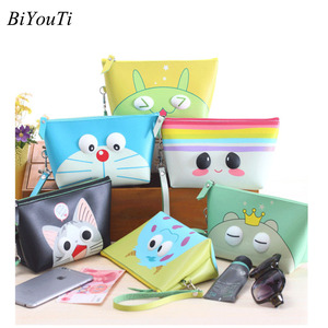 Best Selling Korea Cute Cosmetic Bag Makeup Waterproof Big Volume Cleaning Travel Makeup Bag